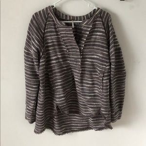Free People oversized high/low pullover sweater